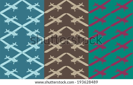 planes pattern. EPS10 vector image 0103 - stock vector
