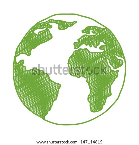 planet design over white background vector illustration  - stock vector