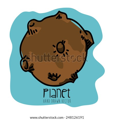 planet drawn design, vector illustration eps10 graphic