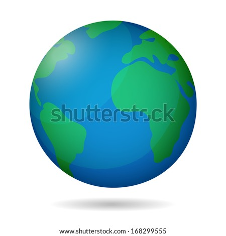 planet earth - stock vector