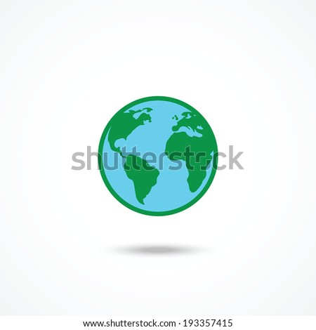 Planet Earth Icon - stock vector