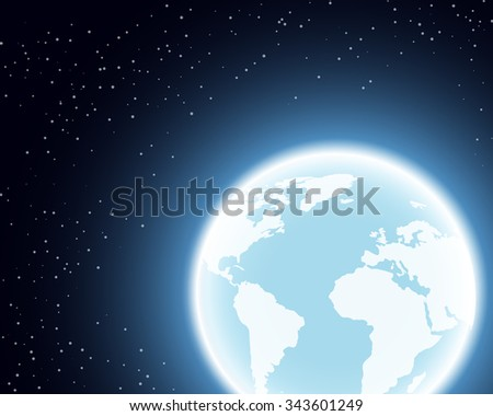 Planet Earth illustration. Globe in the Space. - stock vector