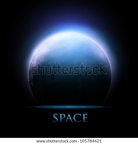 Planet Earth illustration - vector - stock vector