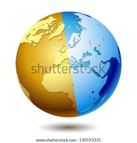 Planet earth isolated on a white background. Illustration, vector. - stock vector