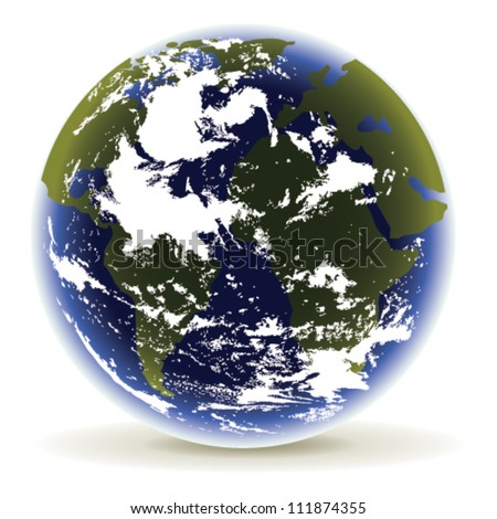 Planet Earth on a white background - stock vector