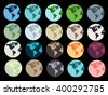 Planet Earth. Set of Earth globe icons isolated. - stock vector