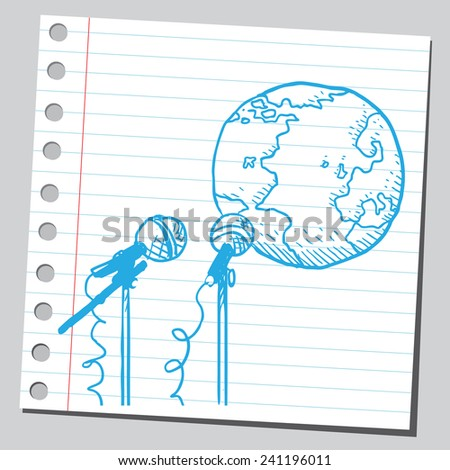 Planet Earth speaking - stock vector
