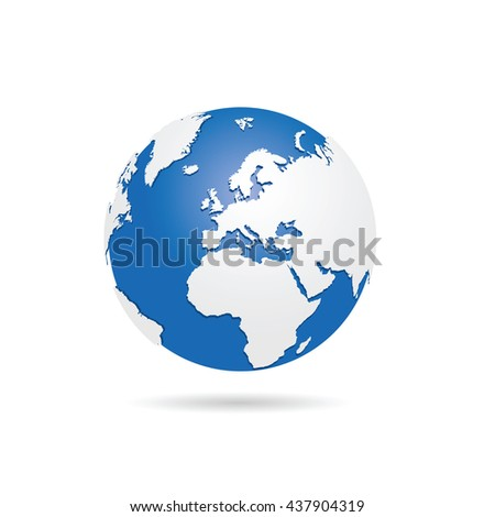 planet earth sphere color illustration - stock vector