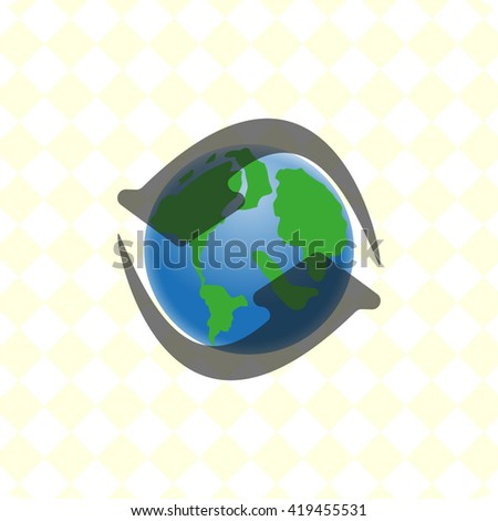 planet earth vector illustration
