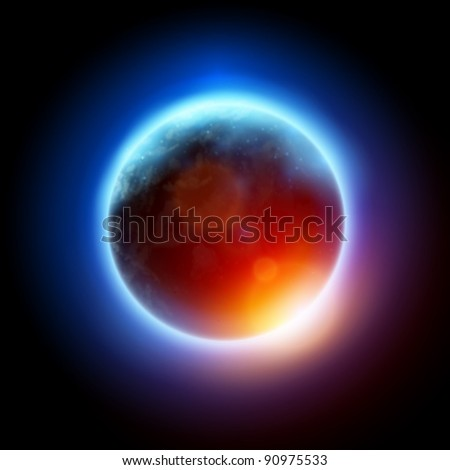 Planet Earth - vector illustration - stock vector