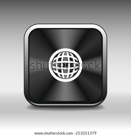 Planet icon network map earth business concept - stock vector