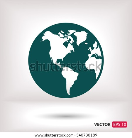 planet icon. One of set web icons