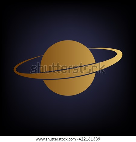 Planet in space icon