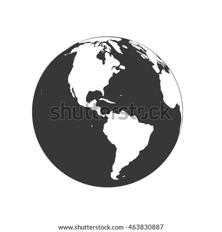 Planet map earth world sphere silhouette stock vector 463830887 planet map earth world sphere silhouette icon isolated and flat illustration vector graphic gumiabroncs Image collections