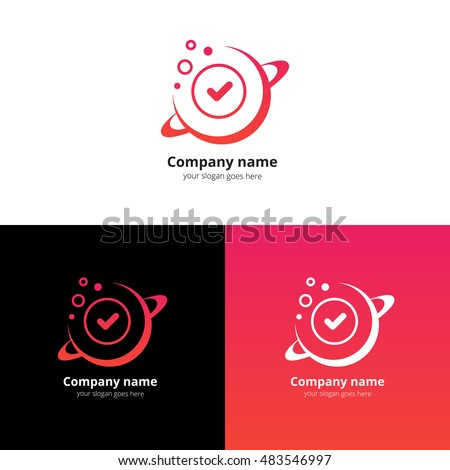 planet space vector logo design templateのベクター画像素材 483546997