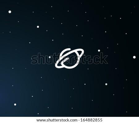 Planet  symbol - stock vector