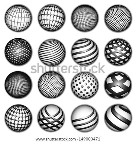 planet symbols, vector - stock vector