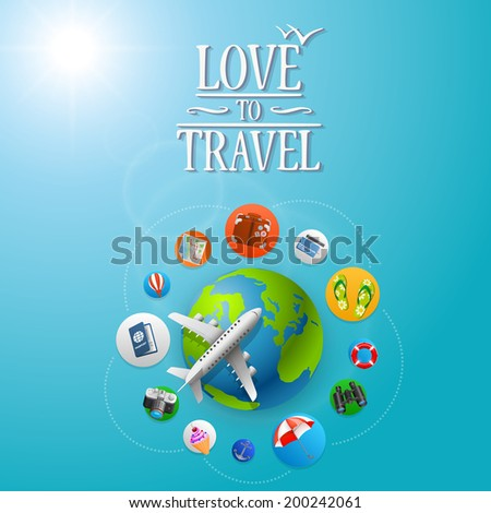 Planet Travel icons. Vector illustration - stock vector