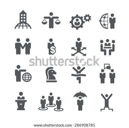 Planning and Success // Business Strategies - stock vector