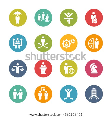 Planning Strategies and Success  // Fresh Colors Series ++ Icons and buttons in different layers, easy to change colors ++ - stock vector