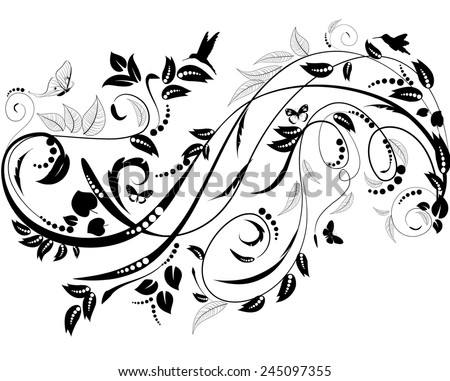 plant ornament for your design - stock vector