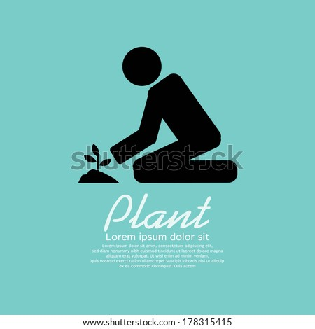 Planting Vector Illustration - stock vector