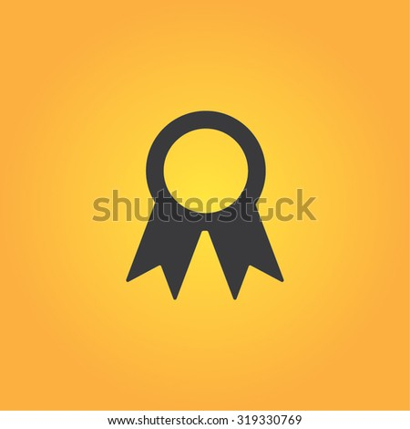 Plaque ribbon vector icon for web and mobile