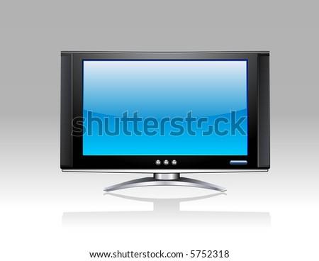 Plasma LCD TV - stock vector