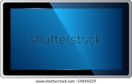Plasma TV - stock vector