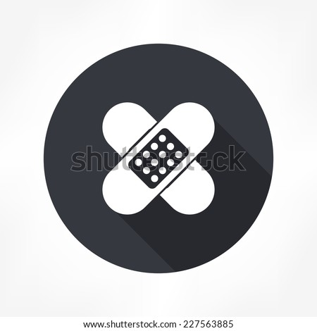 plaster icon - stock vector