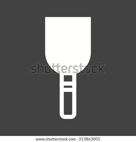 Plaster, tool, cement icon vector image.Can also be used for art and designing. Suitable for mobile apps, web apps and print media. - stock vector