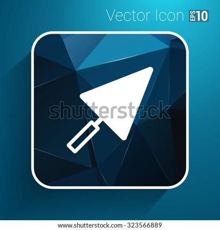 plastering trowel icon vector button logo symbol. - stock vector