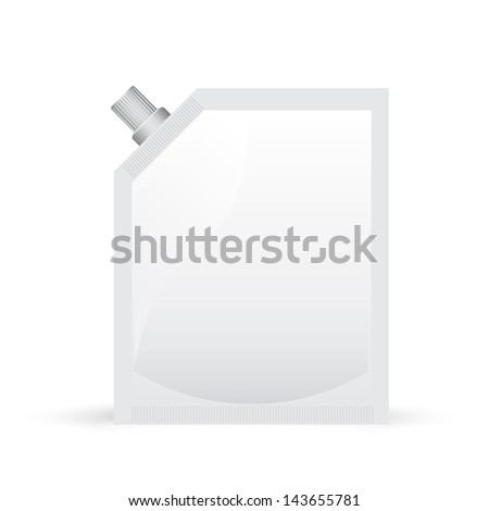 Plastic bag for mayonnaise or mustard - stock vector