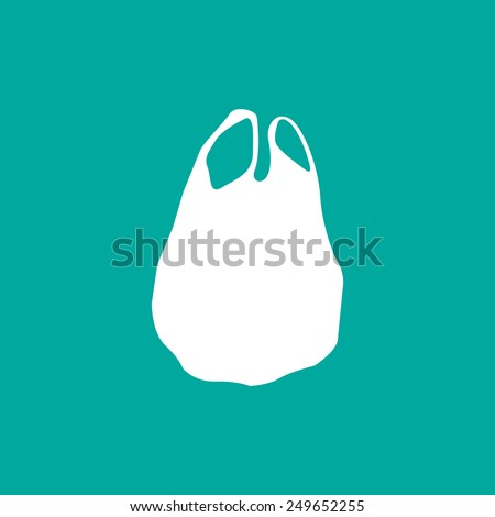 Plastic bag icon - Vector - stock vector