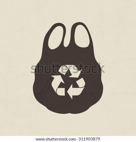 Plastic Bag Icon Recycle Symbols On Stock Vector 309921197 ...
