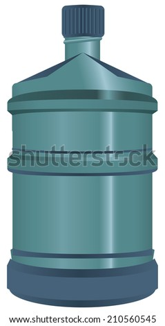 Plastic big bottle for water closed. Vector illustration. - stock vector