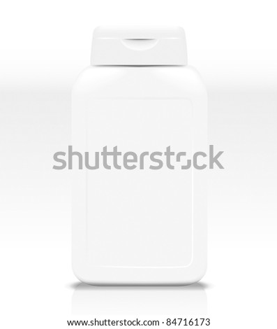 Plastic bottle template - stock vector