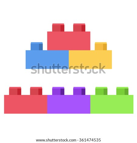Building blocks stock images royalty free images for Plastic building blocks home construction