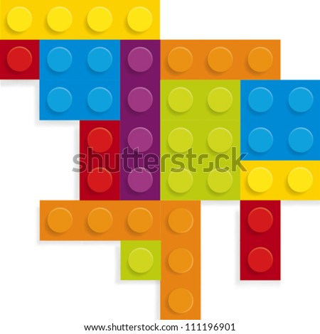Plastic building in vector - stock vector