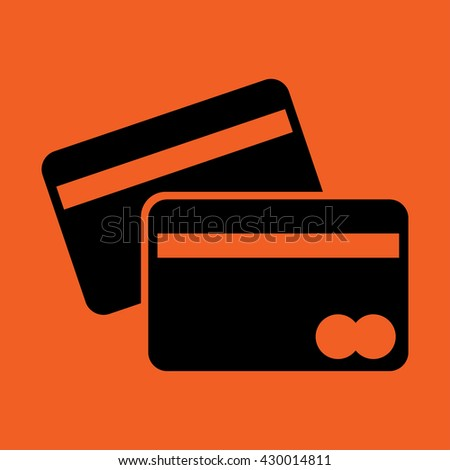 plastic card banking cash credit icon - stock vector