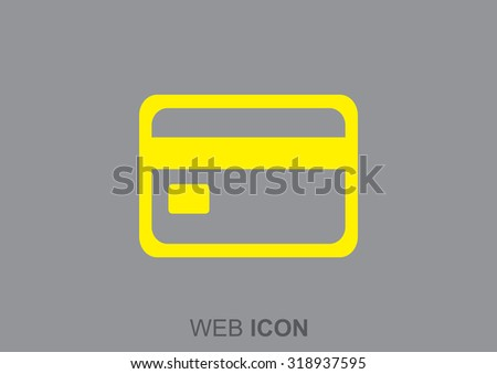 plastic card web icon. vector design
