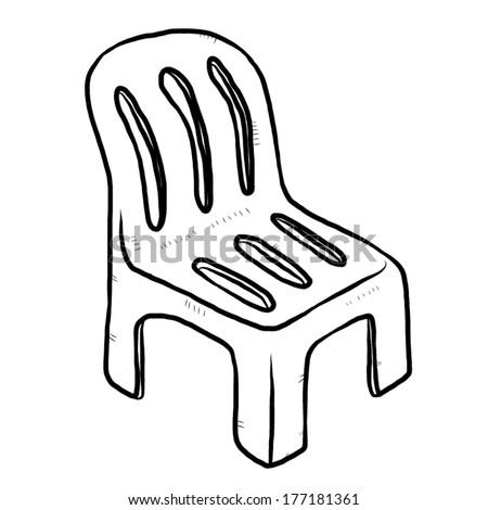 Chair Cartoon Drawing Plastic Chair Cartoon Vector