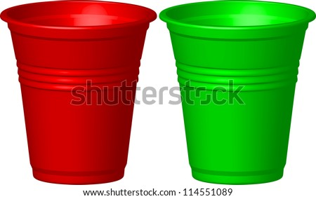 plastic cup - stock vector