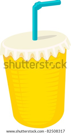 Plastic cup - stock vector