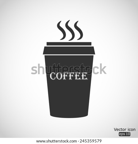 plastic cup of coffee vector icon - stock vector