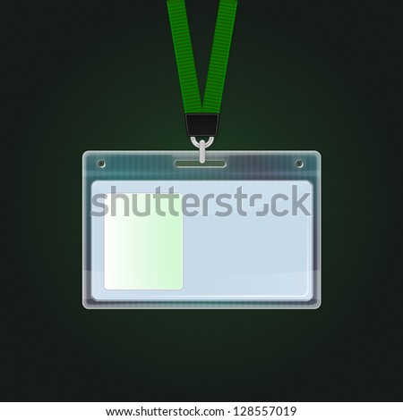Plastic ID Badge. Identification card icon. Vector identification cards template, eps 10 - stock vector