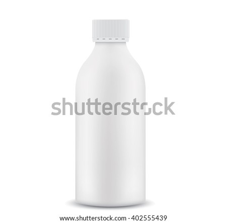 Plastic 1 liter bottle closed  - stock vector