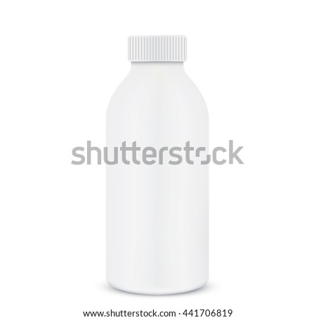 Plastic 1 liter bottle closed. - stock vector