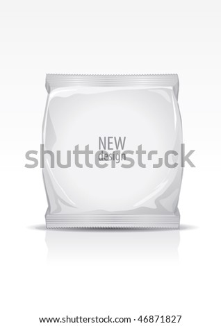 Plastic packaging, for new design, vector - stock vector