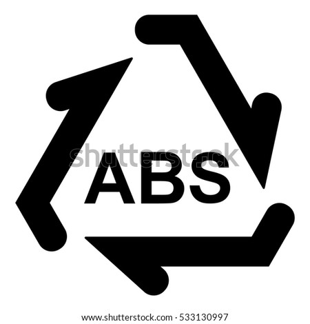 Plastic Recycle Symbol Abs Plastic Recycling Stock Vector 533130997